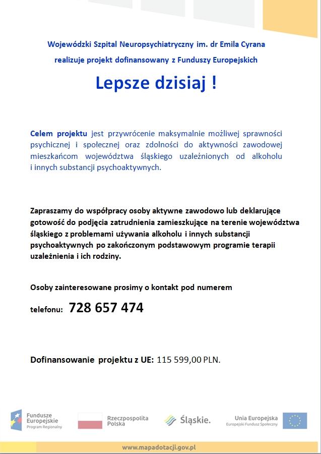 """Przeczytaj artykuł pt. """"Lepsze dzisiaj! Realizacja założeń Regionalnego programu rehabilitacji osób z zaburzeniami psychicznymi spowodowanymi używaniem alkoholu oraz innych substancji psychoaktywnych w województwie śląskim"""""""